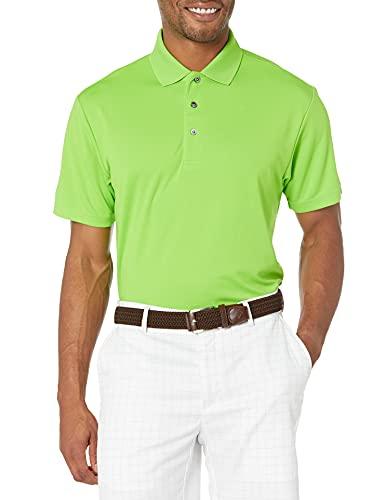 PGA TOUR Polo de Golf de Manga Corta Airflux para Hombre, Verde jazmín, Medium