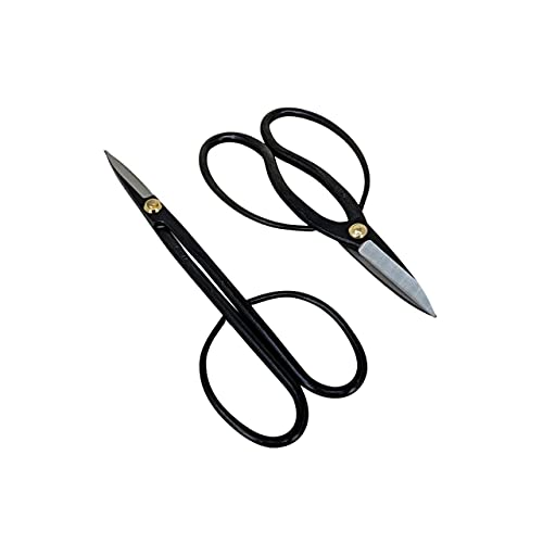 Yoshiaki Bonsai Scissors Pruning Kit - Heavy Duty Japanese Shears, Bonsai Clippers for Trimming Plants + Arranging Flowers and Working on Bonsai Trees, Carbon Steel Garden Tools