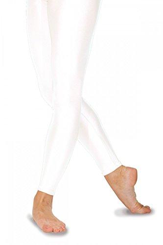 Roch Valley FLST Ballett Strumpfhosen ohne Fußteil aus Lycra Weiß 1B (122-128cm)