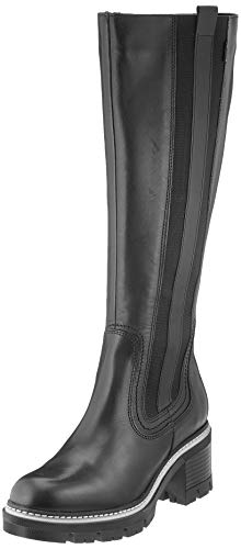 Tamaris Damen 1-1-25621-25 Kniehohe Stiefel, schwarz, 38 EU
