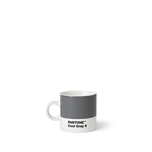Pantone Espresso, Small Coffee Cup, Fine China (Ceramic), 120 ml, Grey