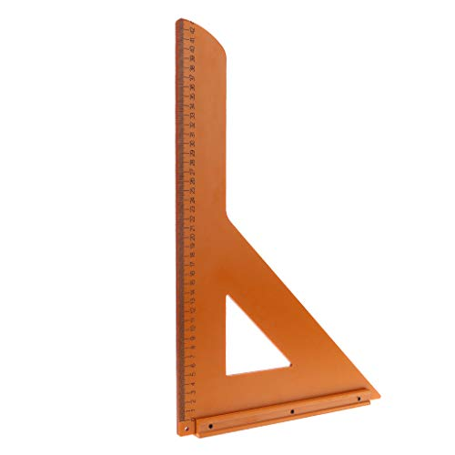 Abnana Triangle Ruler Carpintería Precisión de 90 grados Escala milimétrica Aleación de...