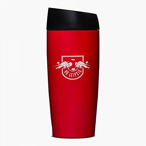 RB Leipzig Thermobecher rot metallic, Kaffeebecher, RBL Isolierbecher, Thermo Mug - Plus Lesezeichen Wir lieben Fußball