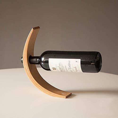 SHPEHP Weinregal/weinregal Holz/Wein Dekoration/kreative Ornamente, industriellen Retro-Stil, geeignet für bar Hotel Restaurant, platzsparende flaschenständer-Woodcolor