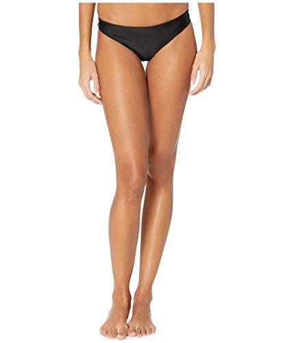 MIKOH Women's Zuma Bikini Bottoms, Night, Black, Large
