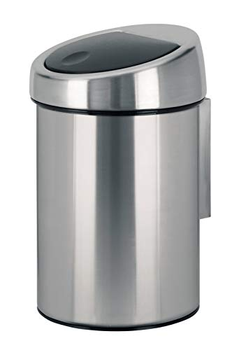 Touch Bin 3 L mit Kunststoffeinsatz / Matt Steel Fingerprint proof