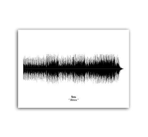 LAB NO 4 Toto Band Africa Song Soundwave Print Music Lyrics Poster in (11