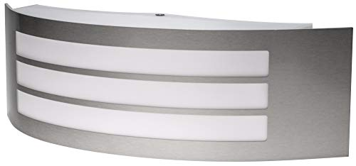 Roestvrijstalen wandlamp IP44 E27 230 V - 1 lamp - huisingang buitenwandlamp