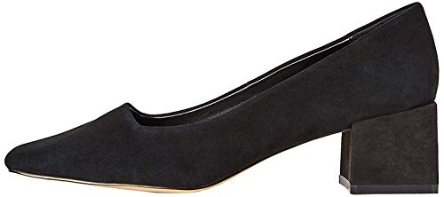 find. Block Heel Suede Zapatos de Tacón, Negro Black, 37 EU
