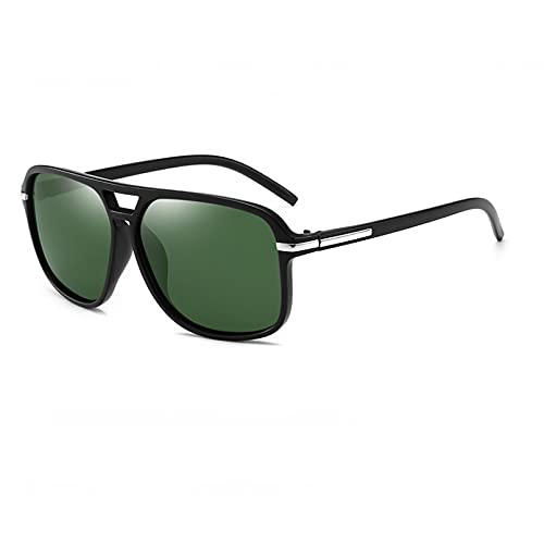 KANGDE Gafas De Sol Polarizadas para Hombre, Gafas De Sol De ConduccióN con Espejo Cuadrado De Gran TamañO, Gafas De Conductor Retro Uv400, Gafas Unisex