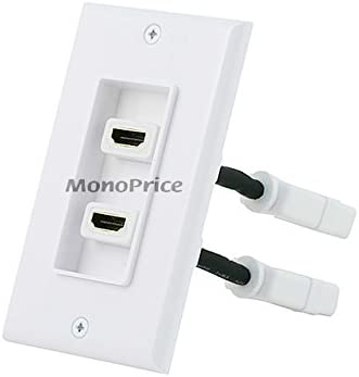 Monoprice Two-Piece Inset Wall Plate Flexib 4 Inch Built-in with Deluxe 5 popular