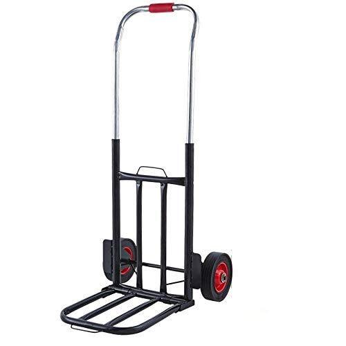 MIZE Steel Multi-Functional  Shop Trolley With Anti Puncture Solid Wheel and 150 kg Capacity,Black Shopping Bags for Trolley for Camping/Bbq/Family Outdoor Activities