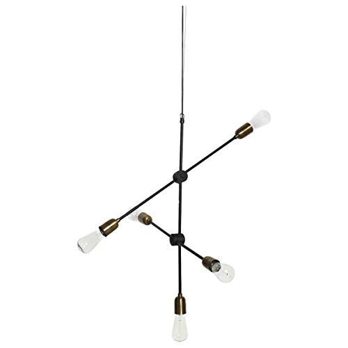 House Doctor Molecular - Lámpara de techo, color negro y latón