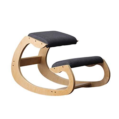 L.e.i Ergonomic Kneeling Chair, Posture Correcting Wooden Stool