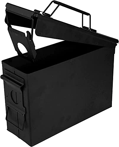 30 Cal Metal Ammo Can - Steel Ammo Case Lockable Military...