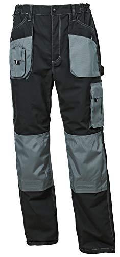 Stenso Emerton® - Herren Arbeitshose Bundhose/Cargohose - strapazierfähig - Schwarz/Grau EU56