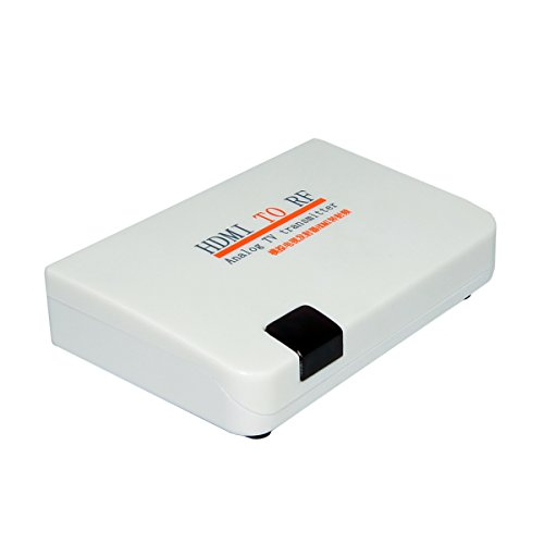 E-SDS HDMI to RF Coaxial Converter Box for Old TV, Convert HDMI to Coaxial Analog Signal with Remote Control Support Zoom Function