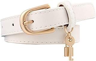JJXSHLFL New Three-Piece Ladies Thin Belts Decorative Wild PU Leather Belts Casual Belts (Color : White)