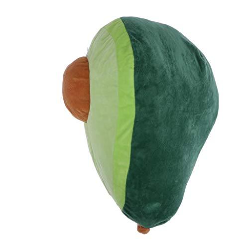 Milageto Cojín de aguacate grande – Peluche de fruta relleno Kawaii – Simpático juguete en forma de aguacate para