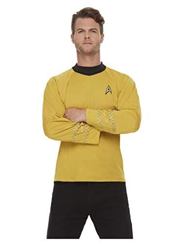 Smiffys Smiffy's 52338M Offiziell lizenziertes Star Trek, Original-Serie Command Uniform, Men, gelb, M - Size 38