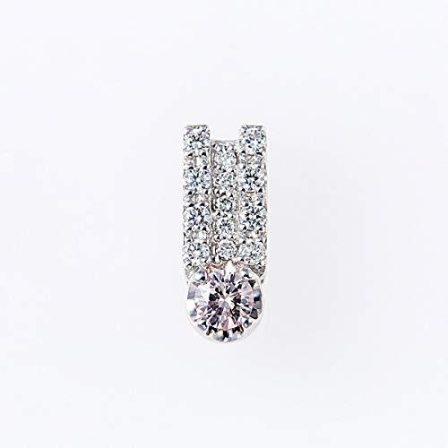 ピンクダイヤモンドペンダントヘッド 0.12ctUP & ダイヤモンド計0.15ctUP [18KWG] 専用ケース付
