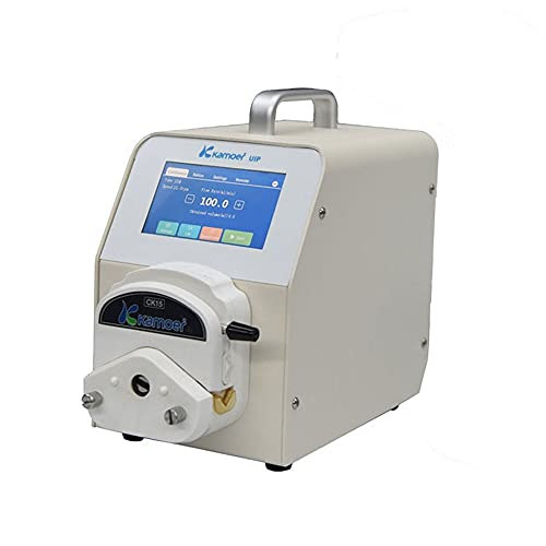 Kamoer Lab WiFi UIP Stepper Motor Intelligent Peristaltic Pump high Flow Rate dosing Pump (3 Rollers, 1-1520ml/min, 110V-220V AC, Foot Switch Support, Touch Screen Display, White)
