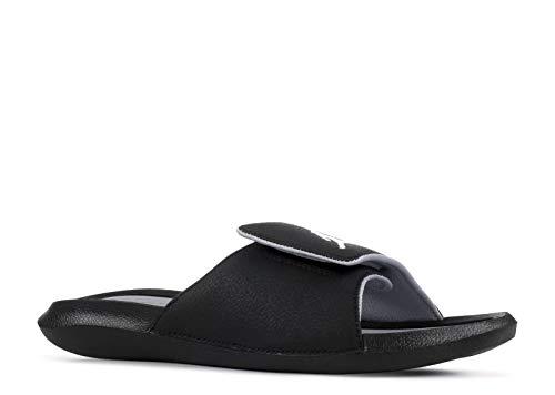 Nike Men's Jordan Hydro 6 Slides Sandals, Black White Wolf Grey, 11
