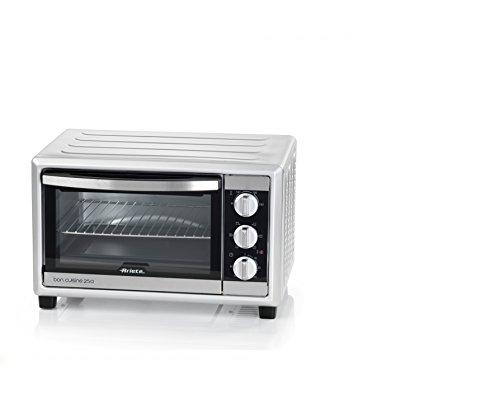 Ariete 984 Bon Cuisine 250 - Forno elettrico ventilato, 25 Litri, 1500W, 6 posizioni cottura, Timer 60', Silver 46.5x30x38cm