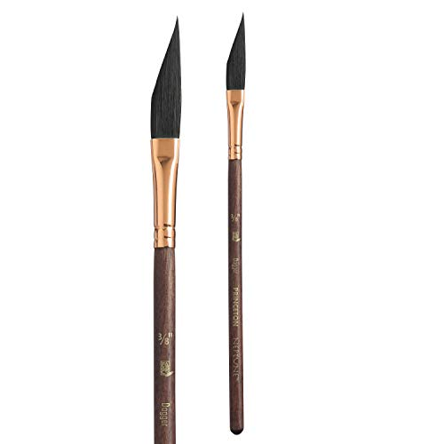 Princeton Artist Brush, Neptune Series 4750, Synthetic Squirrel Watercolor Paint Brush, Dagger Striper, Size 3/8 Inch