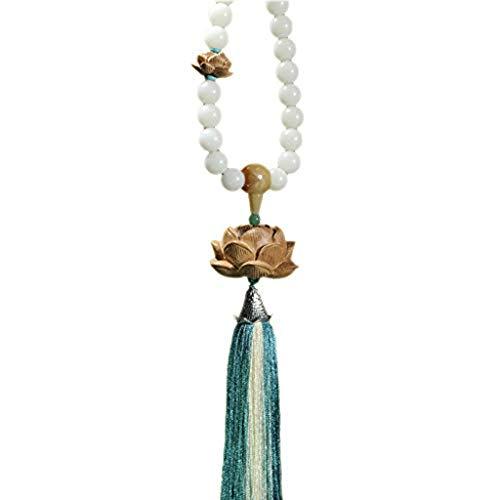 ZHJDX Colgante de Coches - Inicio Alquiler Colgante de Gama Alta de Coches Colgante Creativo de Caoba Lotus Colgante Espejo retrovisor de Coche