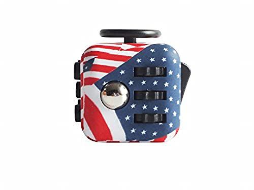 Fidget Toy Cube - Cubo Antiestres - Juego Desestresante Para Niños y Adultos - Alivia el Estrés y la Ansiedad - Fidget Toy Anti Estrés (USA)