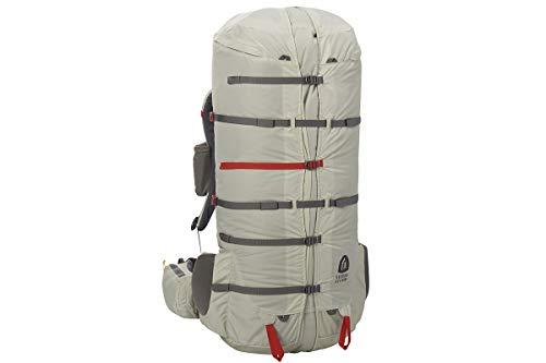 Sierra Designs Flex Capacitor Backpack, Adjustable 60-75L Volume Ultralight Backpacking Pack with Y-Flex Suspension System, Birch