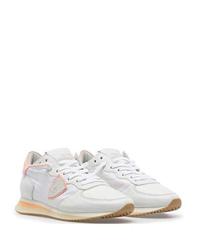 Philippe Model Damen Sneakers TZLD WIP2 Pastel Blanc Wildleder Fabric Weiss