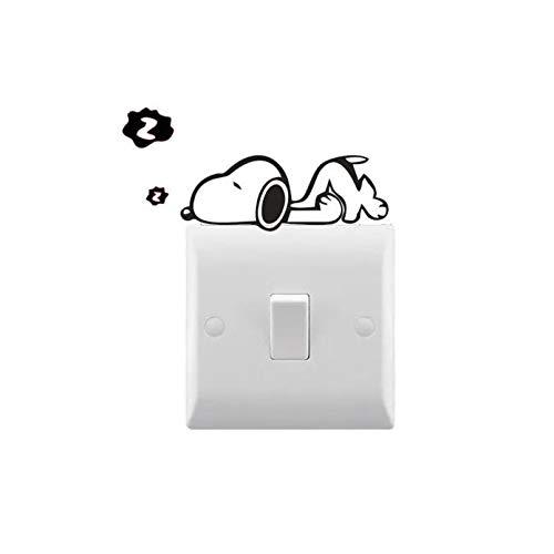 AiEnmaw Pegatina de vinilo para interruptor de luz para perro, extraíble, impermeable, para decoración de dormitorio, 4 x 8 cm