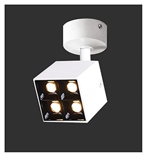 L1YAFYA Regulable CREE LED Mini downlights 8W AC85-265V Pantalla de joyería Pista de Techo Empliego Empotrado Lámpara Spot Blanco/Negro (Emitting Color : White Ceiling, Wattage : 8W 4000K)