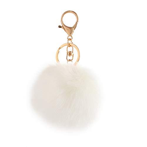 Schlüsselanhänger plüsch Ball Mode Parfümflasche Plüsch-Kugel Pompom Charm Tasche Anhänger Elegant Weich Schlüsselring bommel Keychain Handtaschenanhänger Dekor Autoschlüssel-Anhänger (# 10)