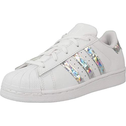 Adidas Superstar C, Zapatillas Unisex Niños, Blanco (Footwear White/Footwear White/Footwear White 0), 33 EU