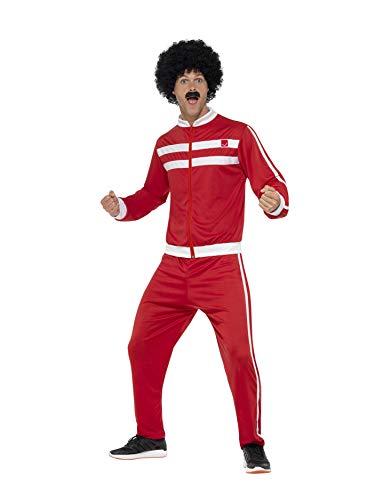 Smiffys 45521L - Herren Scouser Trainingsanzug, Jacke und Hose, Größe: L, mehrfarbig