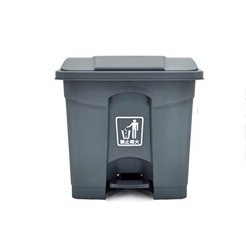 Basura con tapa con tapa de la basura HJBH Pedal de gran tamaño Pedal de plástico basura al aire libre Clasificación Clasificación grande Peel Barrel Oficina comercial Oficina Casa Sala de estar Barur