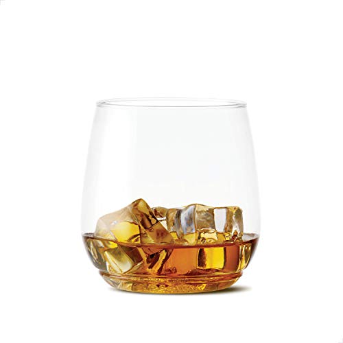 TOSSWARE 12oz Shatterproof Whiskey & Cocktail Glass, SET OF 12 BPA-Free Upscale Recyclable/Disposable Plastic Cocktail Cups