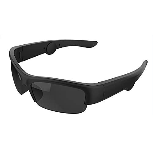 GSYNXYYA Gafas Inteligentes De Conducción Ósea, Gafas Deportivas del Canal Auditivo Abierto, Gafas De Sol Estéreo Bluetooth Inteligentes, para Llamadas/Música/Al Aire Libre (250Mah),Ink Color
