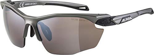 ALPINA adulti unisex, occhiali sportivi, TWIST FIVE HR tin-black HM+, taglia unica