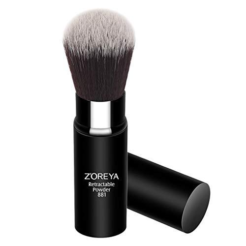 MERIGLARE Pinceau Kabuki Rétractable Poudre Fondation Blush Voyage Maquillage Beauté Brosse
