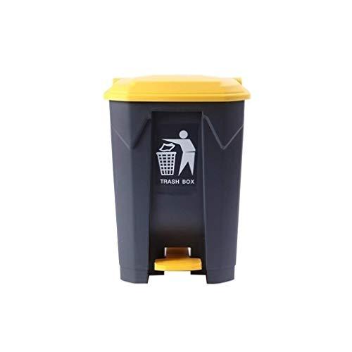 Pasillo de Basura Bote de Basura Hotel Escuela Oficina Bote de Basura Multifuncional Cubo de Basura al Aire Libre Bote de Basura con Pedal de plástico