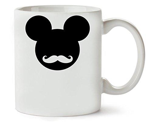 1GD Mickey Mouse Hipster Logo Graphic Taza para Café Y Té