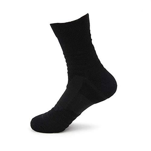 Wdonddonyjw Calcetines de Yoga Deporte al Aire Libre de los Hombres de Alta Rodilla Calcetines de Deporte Sudor Calcetines de Baloncesto (Color : Black)