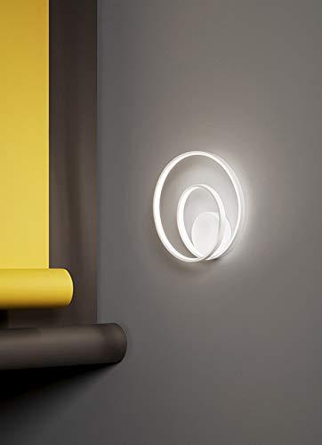 Applique In Metallo E Alluminio Verniciato Bianco Serie Ritmo