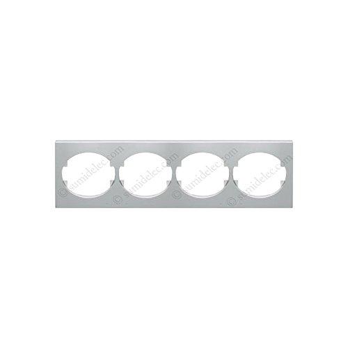 Niessen tacto fotolijst, 4 elementen, horizontaal, zilverkleurig