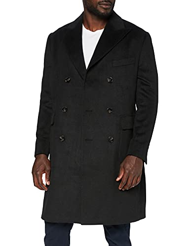 Marca Amazon - find. Wool Mix Double Breasted Smart Abrigo Hombre,...