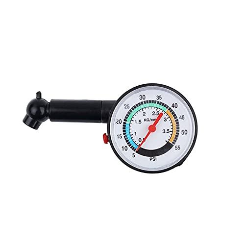 2021 Neumático de neumáticos para neumáticos para automóvil Auto Motorcycle Truck Bike Dial Meter Tester Tester Presión Neumático Herramienta de medición (Color : Black)